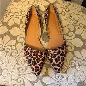 Zoe d'orsay leopard print pointy toe flats